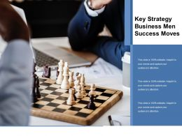 Key Strategy Business Men Success Moves