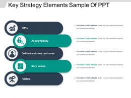 Key Strategy Elements Sample Of Ppt