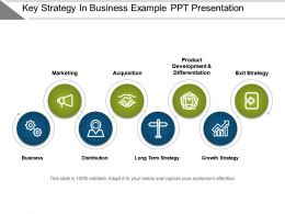 Key Strategy In Business Example Ppt Presentation