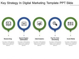Key Strategy In Digital Marketing Template Ppt Slide
