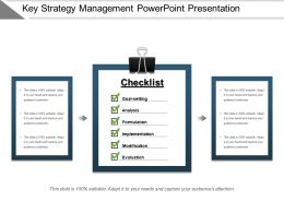 Key Strategy Management Powerpoint Presentation