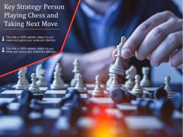 Key Strategy Person Playing Chess And Taking Next Move