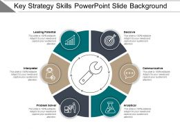 Key Strategy Skills Powerpoint Slide Background