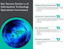 Key Success Factors A Of Information Technology Operations Governance