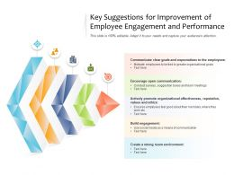 Key Suggestions For Improvement Of Employee Engagement And Performance