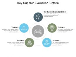 Key Supplier Evaluation Criteria Ppt Powerpoint Presentation Visual Professional Cpb