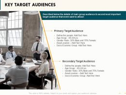Key Target Audiences Primary Ppt Powerpoint Presentation Summary Gallery