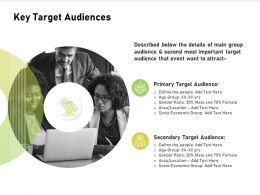 Key Target Audiences Socio Location Ppt Powerpoint Presentation Styles Aids