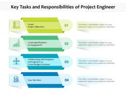 Key Tasks And Responsibilities Of Project Engineer