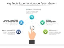 Key Techniques To Manage Team Growth