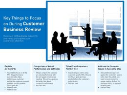 Key Things To Focus On During Customer Business Review