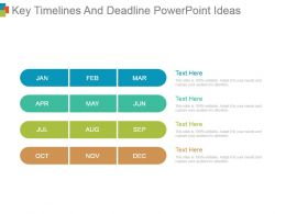 Key Timelines And Deadline Powerpoint Ideas