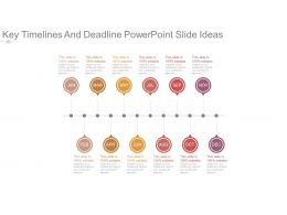 Key Timelines And Deadline Powerpoint Slide Ideas