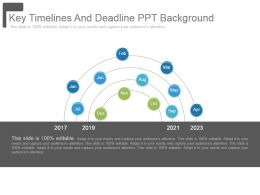 Key Timelines And Deadline Ppt Background