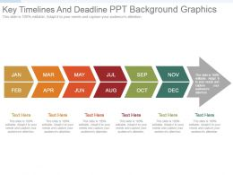 Key Timelines And Deadline Ppt Background Graphics