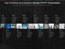 Key Timelines And Deadline Sample Of Ppt Presentation