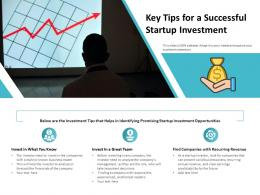 Key Tips For A Successful Startup Investment