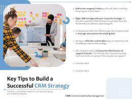 Key Tips To Build A Successful CRM Strategy