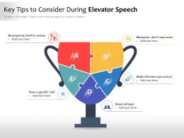 Key Tips To Consider During Elevator Speech