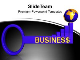Key To Business Global Success Powerpoint Templates Ppt Themes And Graphics 0113