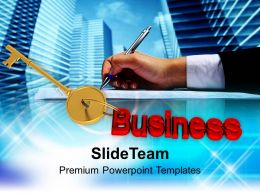 Key To Business Success Powerpoint Templates Ppt Themes And Graphics