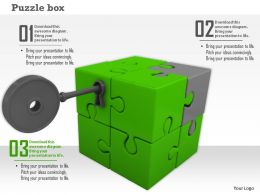 Key To Open Green Puzzle Cube For Solution