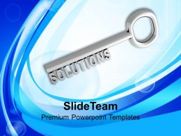 Key To Solution Business Concept Powerpoint Templates Ppt Themes And Graphics 0213
