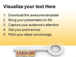 Key To Success Business PowerPoint Templates And PowerPoint Backgrounds 0311