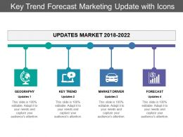 Key Trend Forecast Marketing Update With Icons