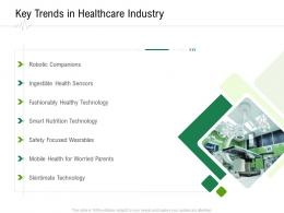Key Trends In Healthcare Industry Hospital Administration Ppt Model Infographics