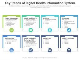 Key Trends Of Digital Health Information System