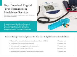 Key Trends Of Digital Transformation In Healthcare Services