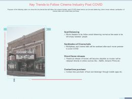 Key Trends To Follow Cinema Industry Post Covid Seat Distancing Ppt Samples