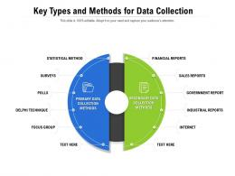 Key Types And Methods For Data Collection