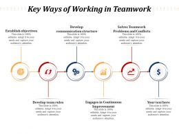 Key Ways Of Working In Teamwork