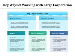 Key Ways Of Working With Large Corporation