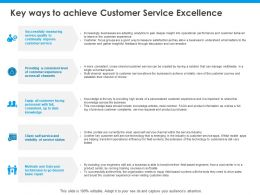 Key Ways To Achieve Customer Service Excellence Business