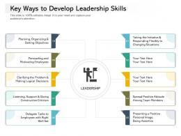 Key Ways To Develop Leadership Skills