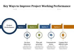 Key Ways To Improve Project Working Performance