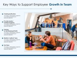 Key Ways To Support Employee Growth In Team