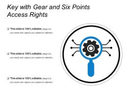 Key With Gear And Six Points Access Rights