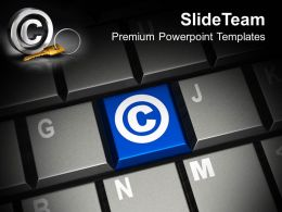 Keyboard With Copyright Symbol Powerpoint Templates Ppt Themes And Graphics