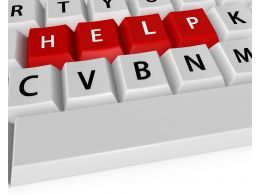 Keyboard With Help Key Business And Technology Stock Photo