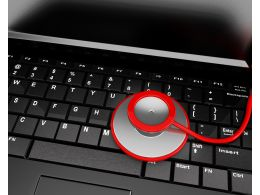 Keyboard With Stethoscope To Display Medical Service Stock Photo