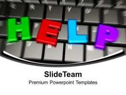 Keyboard With The Word Of Help Powerpoint Templates Ppt Themes And Graphics 0113