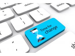 Keyboard With Time For Change Key Stock Photo