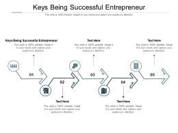 Keys Being Successful Entrepreneur Ppt Powerpoint Presentation Summary Aids Cpb