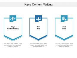 Keys Content Writing Ppt Powerpoint Presentation Infographic Template Shapes Cpb