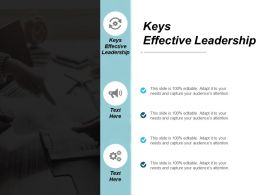 Keys Effective Leadership Ppt Powerpoint Presentation Infographic Template Infographic Template Cpb