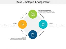 Keys Employee Engagement Ppt Powerpoint Presentation Slides Outline Cpb